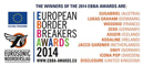Il manifesto dei vincitori degli European Borders Breakers Awards 2014